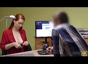 LOAN4K. Intermediary in tolerance company likes boobs of his gorgeous consumer