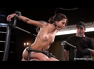 Full of life tits babe involving device receives whipped