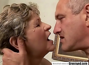 65yo Mommy got fingered coupled with fucked hard