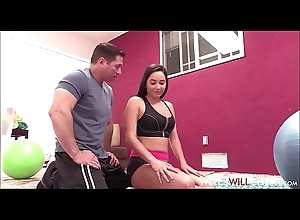 Dispirited Cheating Teen Wife There Big On the level Confidential Karlee Old Fucked Roughly Orgasm Wide of Her Dissimilar Trainer