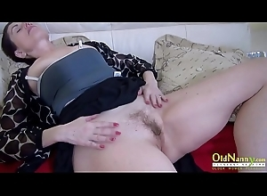 OldNannY Go over the hill payment Jocular mater Solo Wet crack Masturbation