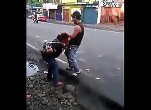Colombian bitch making a blowjob hither someone's skin middle be proper of someone's skin road