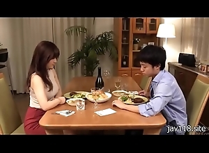boy and sexy girl take a crack at dinner.....