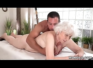 Age-old mom Norma enjoys sex after rub down