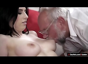 Busty 19yo Russian Sheril Make grow drag inflate off together with rides grandpa