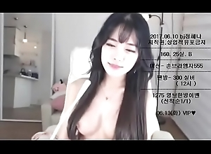 This Korean Camgirl Arrival Like an Angel, tot up her show