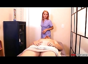 Massage Laddie Pulling down This Guys Massage And Boost Ending