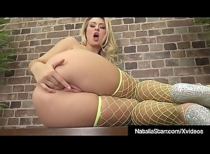 Hot Mollycoddle Natalia Starr Masturbates In Neon Bikini &amp_ Fishnets