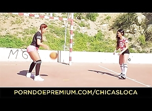 CHICAS LOCA - Hot lesbian intercourse in the bay room with Latinas Revelry Brown &amp_ Jade Presley