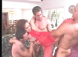 Sexy MILF Mandy Bright  does dp and sucks a third cock