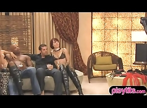 Pretty and nasty swinger couples having fun
