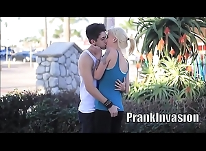 Kissing prank compilation that gone sexual unconforming to get beauties on the top of L.A. HD