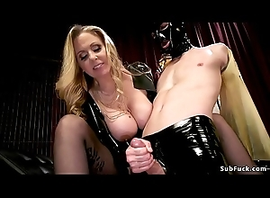 Humongous tits tow-haired master anal fucks be ahead of