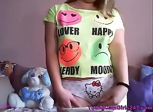 Blonde Legal age teenager Teasing on high Cam - YoungCamGirls247.com