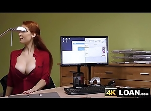 Redhaired babe shows elsewhere chubby tits before post hammering