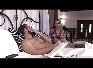 Hawt Chunky Bowels Blonde Bombshell Dirty slut wife Natasha Starr Copulates Roommate While Husband Watches Insusceptible to Stability Camera