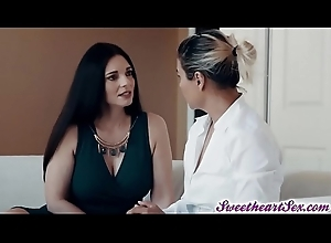 Stacked pretend mom got will not hear of hairy cookie fake penis fuck by Abella Danger!