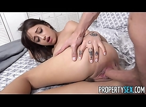PropertySex - Guest with chubby natural tits copulates BNB congress