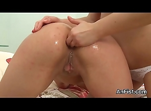 Randy lezzie lookers are spreading plus pink gender anal holes