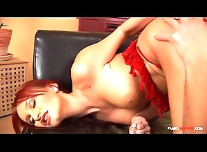 Redhead acquires fucked by her cousin